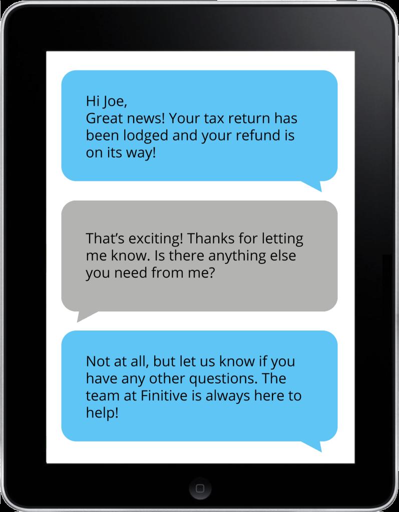 Finitive - iPad Messaging